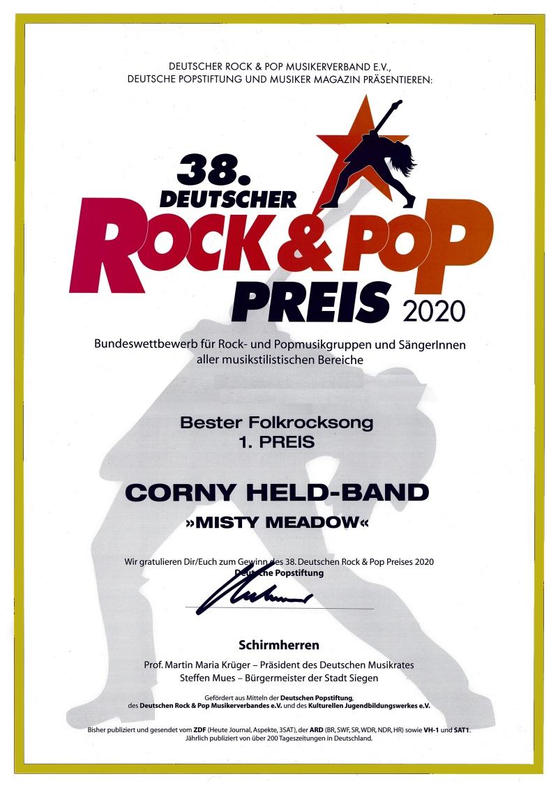 Deutscher Rock und Pop Preis 2020