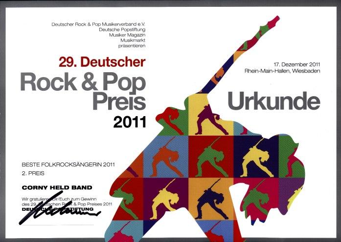 Deutscher Rock und Pop Preis 2011